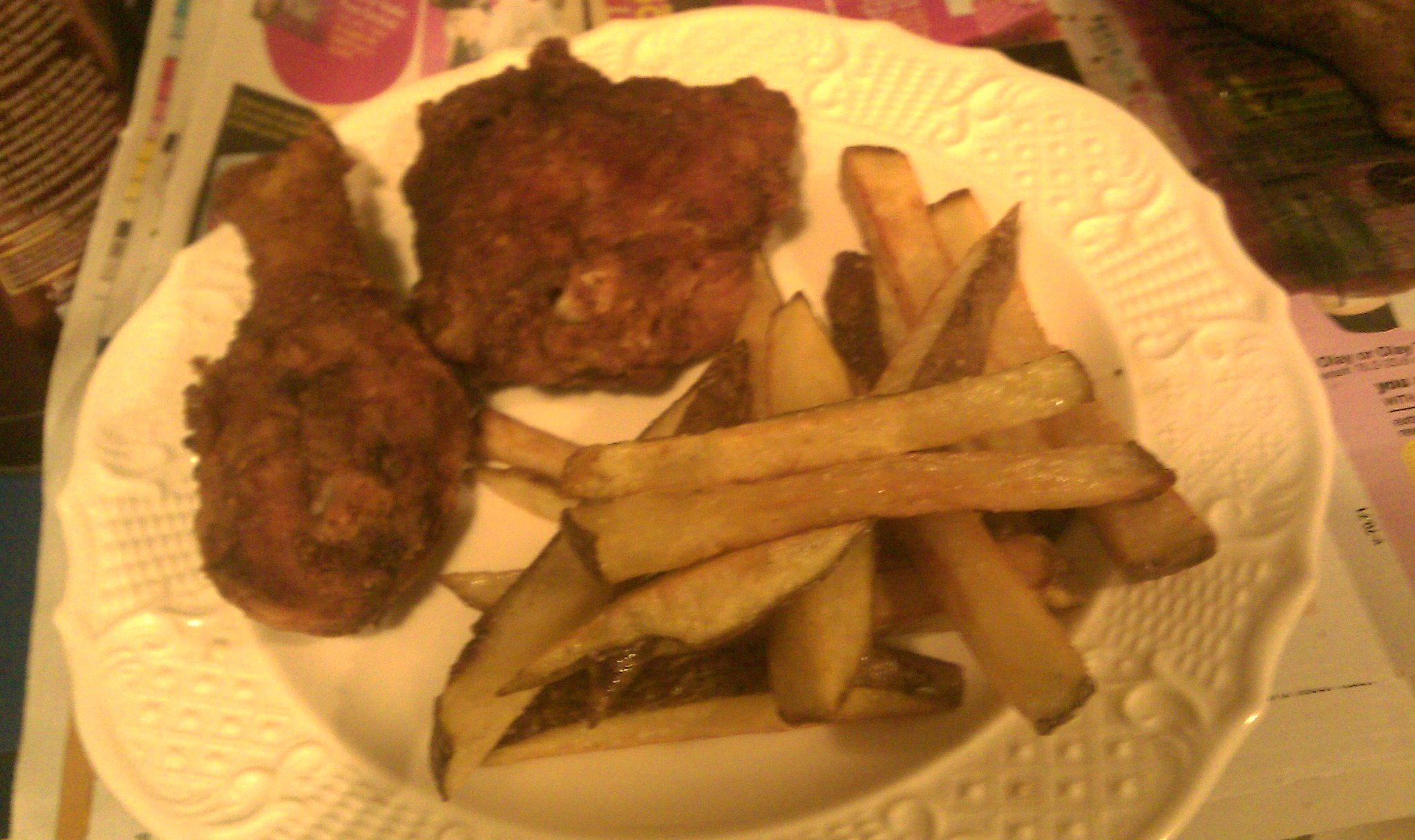 fried chicken and fried fries