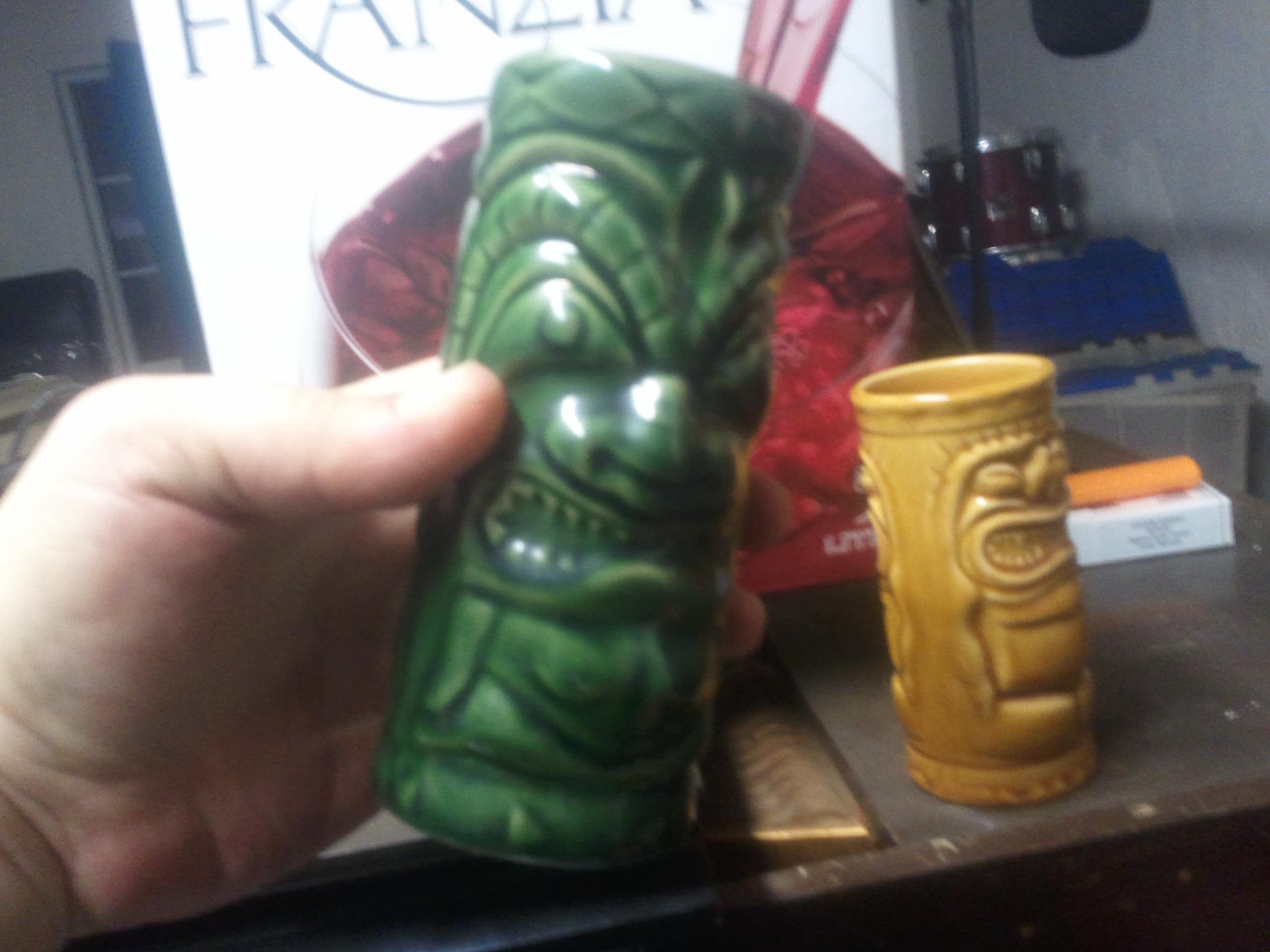 Anything tastes good in vintage tiki mugs