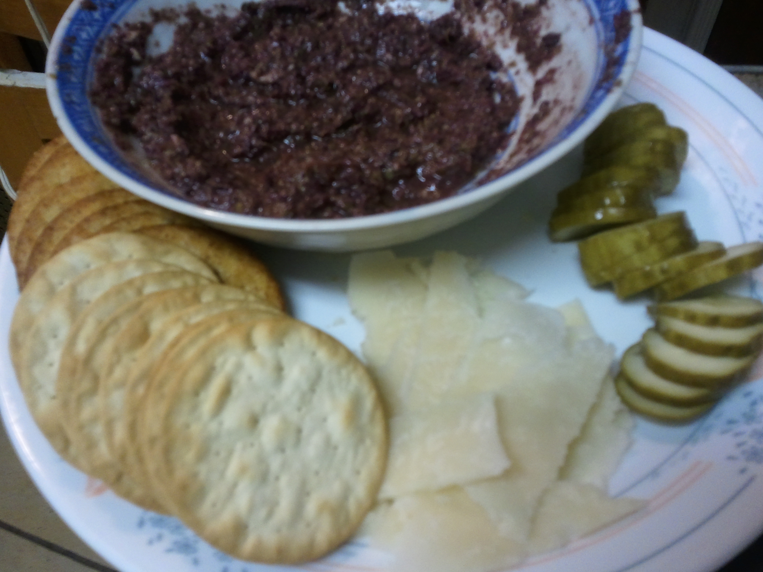 tapenade and parmesan