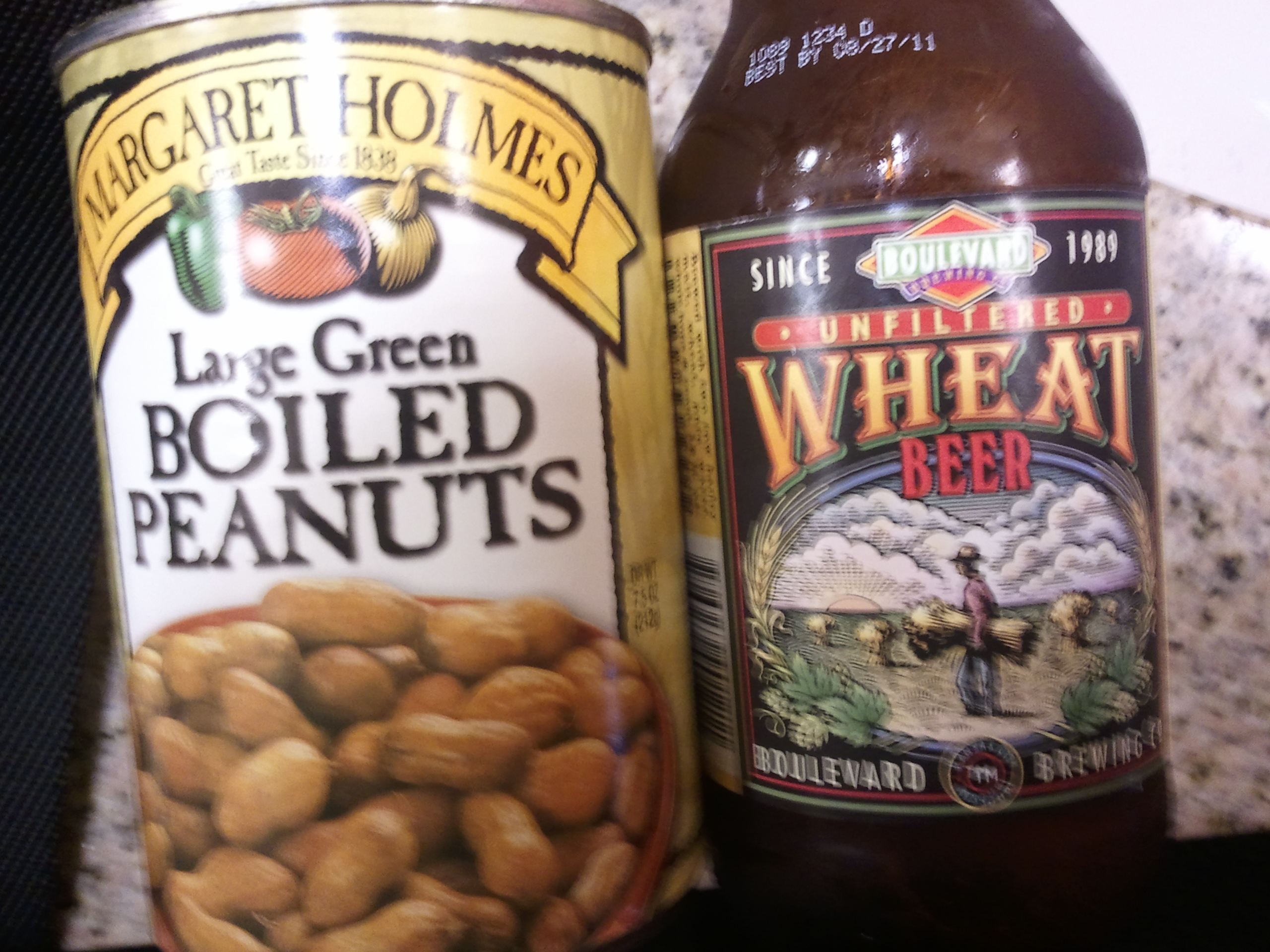 The beer is long gone, but the boiled peanuts are a keepsake