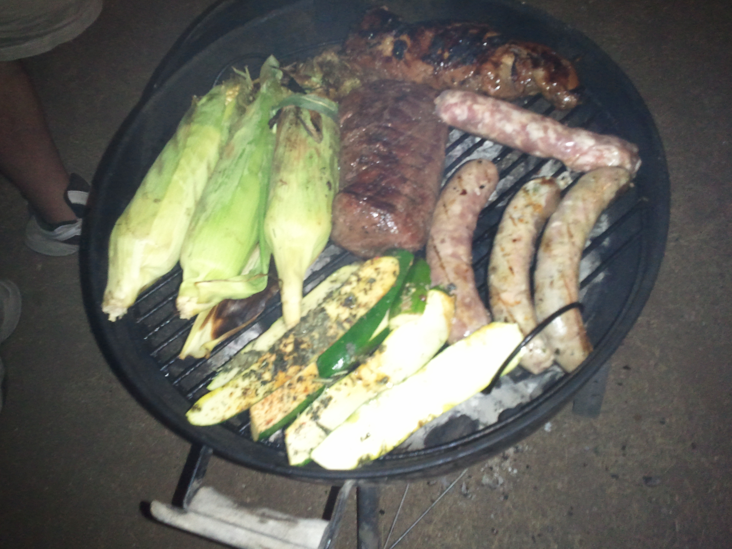 Brats and corn and all things meaty