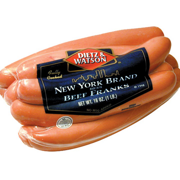 Dietz & Watson New York Brand Beef Franks, accept no substitutes