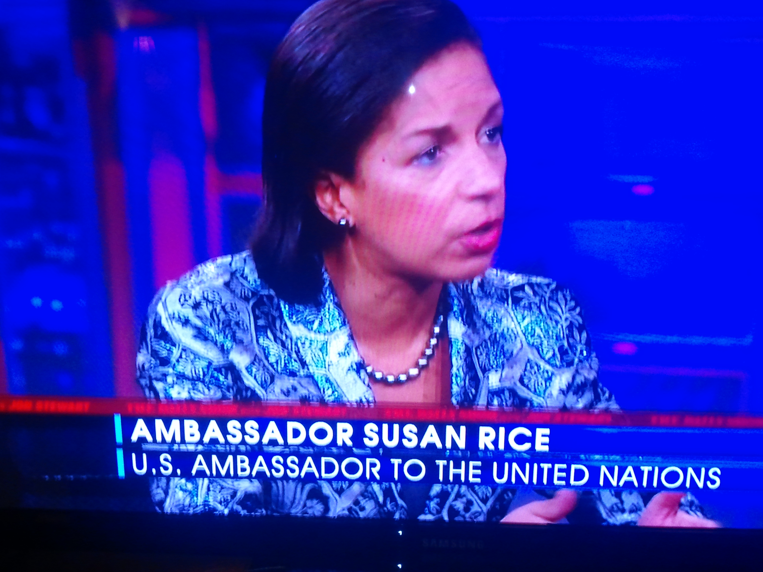 Nice jacket, Susan!